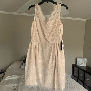 Champagne Lacey Cocktail Dress